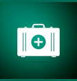 first aid kit icon medical box with cross vector image