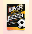 football soccer sport flyer vertical card poster vector image