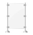 Glass screen with metal racks eps10 vector image vector image