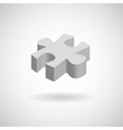 glossy puzzle web icon design element grey vector image