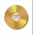 gold vinyl vector image vector image