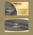 golden color business card image vector image vector image