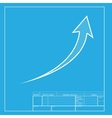 Growing arrow sign White section of icon on vector image vector image
