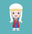 high priest of jewish in cute character vector image