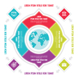 Infographic circle business concepts with icons vector image vector image