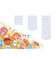 kids jumping have fun in childrens party vector image vector image