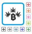 marijuana bitcoin business framed icon vector image vector image