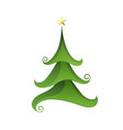merry christmas tree isolated on white vector image vector image