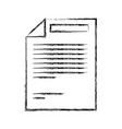 monochrome blurred silhouette of paper sheet with vector image vector image