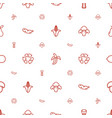 organic icons pattern seamless white background vector image vector image