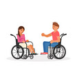 pair of wheelchair disabled people vector image vector image