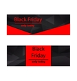Polygonal banners Black Friday vector image vector image