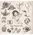Postcard Happy Valentines Day with the boy angel vector image