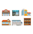public buildings exteriors collection city street vector image vector image