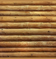 realistic log cabin wood wall vector image