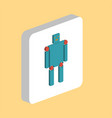 robot android computer symbol vector image