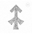 sagittarius zodiac sign hand drawn vector image vector image