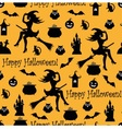 Seamless halloween background vector image vector image