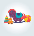 set different kids toys vector image