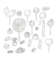 Set of Candy Icons Glaze caramel candy vector image vector image