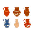 set of ceramic crockery vector image