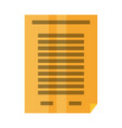 sheet bent corner symbol vector image