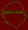 sierra leone map vector image vector image
