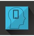 Silhouette profile business smartphone concept