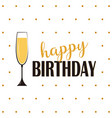 simple birthday card vector image vector image
