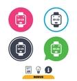 Smart watch sign icon Wrist digital watch vector image vector image