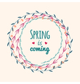 spring floral frame with text vector image vector image