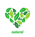 tree logo heart shape design template vector image