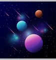 universe space with colorful planet vector image