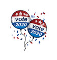 vote 2020 united states america presidential vector image
