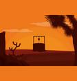 waterhole on desert vector image