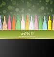 Wine menu cover