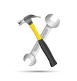 wrench screwdriver hammer repair icon business vector image vector image