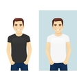 young man in t-shirts vector image vector image