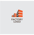 factory or building logo vector image