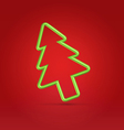 Festive wire tree xmas on red vector image