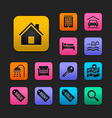 Real estate icons set gummy theme vector | Price: 1 Credit (USD $1)