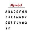 alphabet letters english alphabet calligraphy vector image