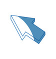 arrow cursor direction pointer click vector image vector image