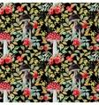 Autumn watercolor pattern vector image vector image