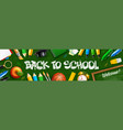 back to school horizontal banner with school vector image vector image