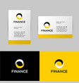 bank or finance logo and identity vector image