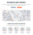 banner business and finance vector image