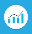 bar graph icon colored symbol premium quality vector image vector image