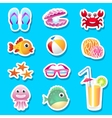 Beach stickers vector image vector image