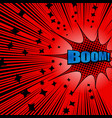 bright comic explosive red background vector image vector image